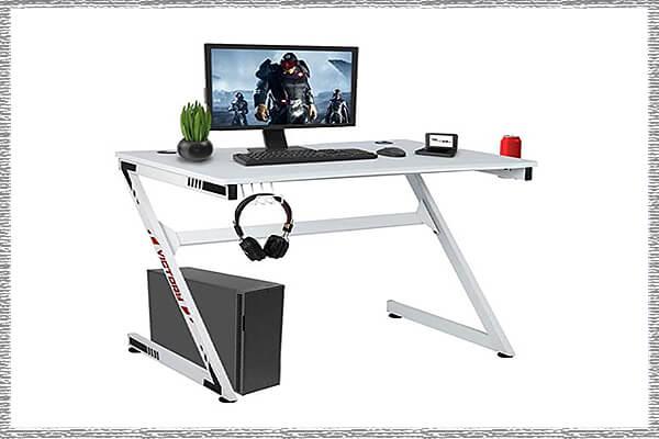 white gaming desks