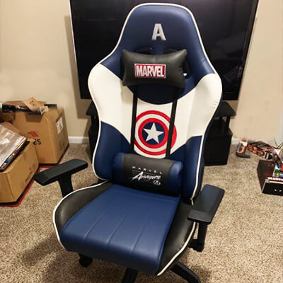 Marvel gaming chairs captain america