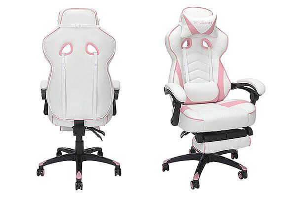 girl white gaming chairs