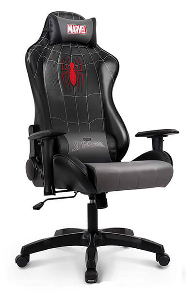 black spider man chair