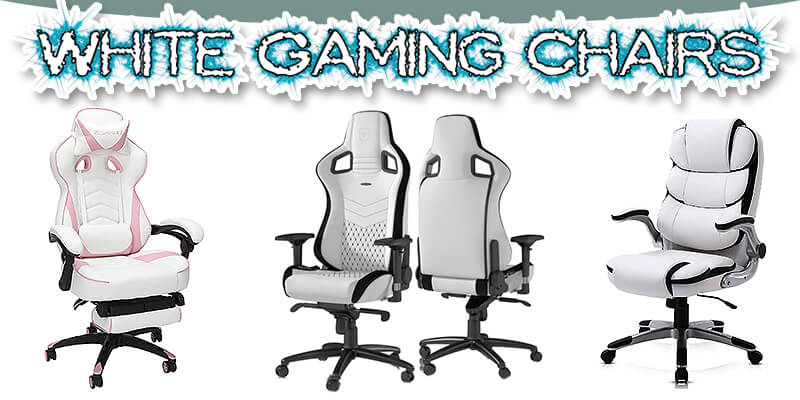 white gaming chairs