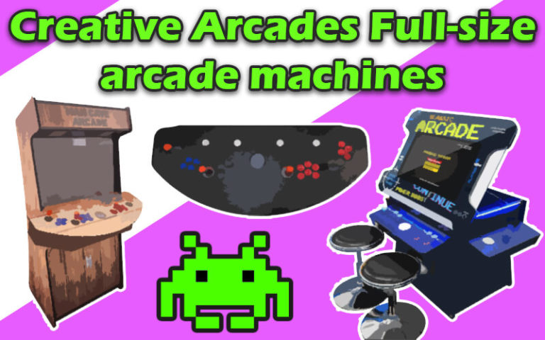 creative arcades full-size arcade machines
